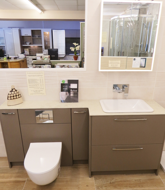 brown bathroom furniture. Another Recent Addition Is From Our Academy Bathroom Furniture Collection. We Have Used A Slab Door In White Gloss With Carcasses \u0026 Brown E