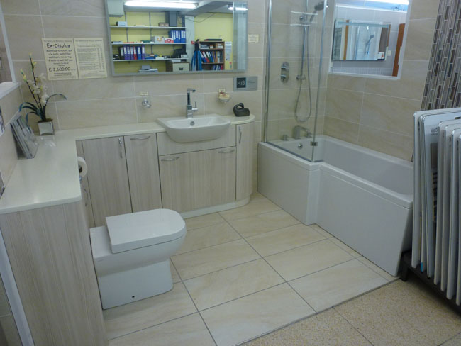 Ex Display 2: Comprising Units From The Britton AquaCabinets Range In A  White Gloss Finish With A 600mm Washbasin Unit, 600mm WC Unit C/w Concealed  Cistern, ...