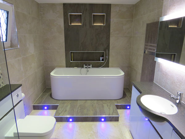 New luxury bathroom showroom design service dibden for Kitchen setting pictures